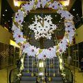 Венок рождественский из белой хвои, диаметр 2,5м.
